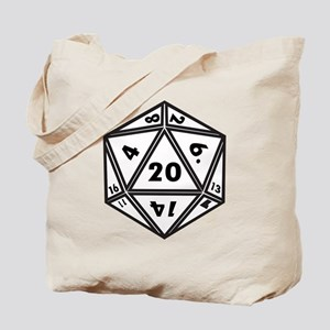 D20 White Tote Bag