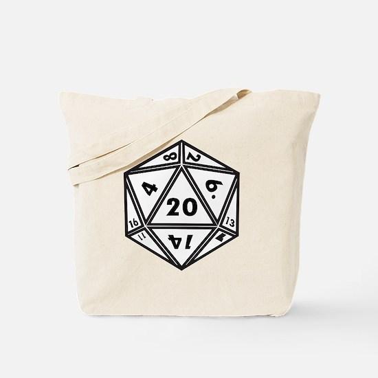 D20 White Tote Bag