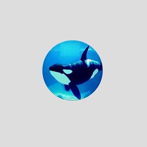 Killer Whale Mini Button