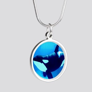 Killer Whale Silver Round Necklace