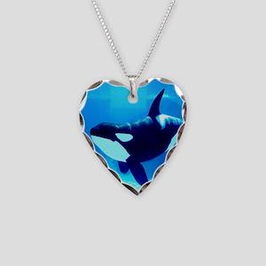 Killer Whale Necklace Heart Charm