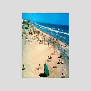 1962 Oceanside Beach 5'x7'Area Rug