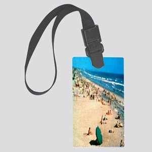 1962 Oceanside Beach Large Luggage Tag