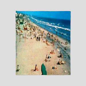 1962 Oceanside Beach Throw Blanket