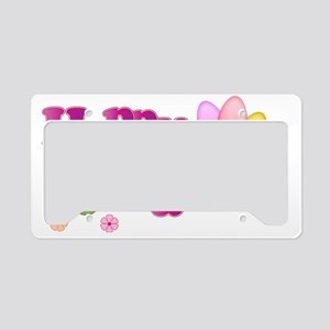 Happy Easter Bunny License Plate Holder