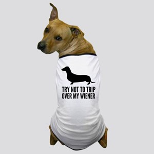 tripOverWiener2A Dog T-Shirt