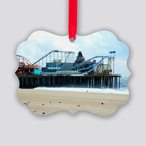 Jersey Shore Seaside Heights Boar Picture Ornament