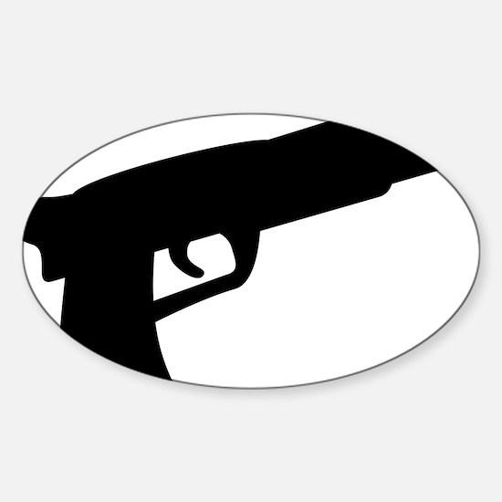 gun Sticker (Oval)