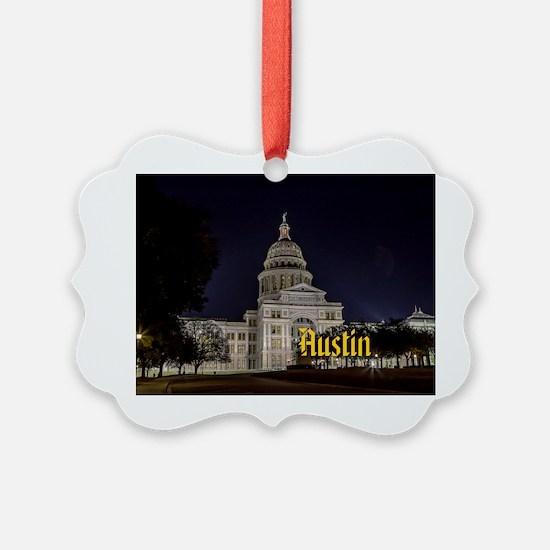 Austin_2x3_magnet_TexasStateCapit Ornament
