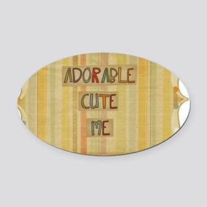 Adorable Cute Me Oval Car Magnet