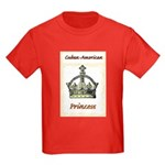 Cuban-American Princess Kids Dark T-Shirt