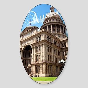 Austin_5.5x8.5_Journal_TexasStateCa Sticker (Oval)