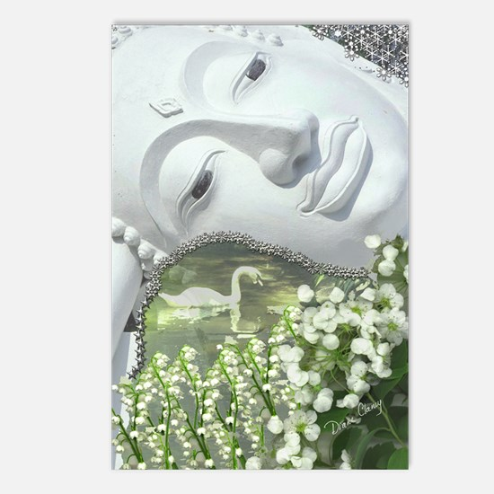 In the Garden - Quan Yin  Postcards (Package of 8)