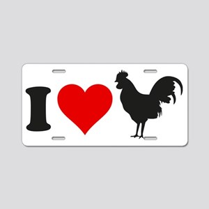 loveRoosters1A Aluminum License Plate