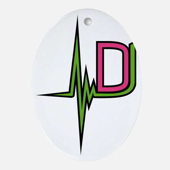 dj_pulse Oval Ornament