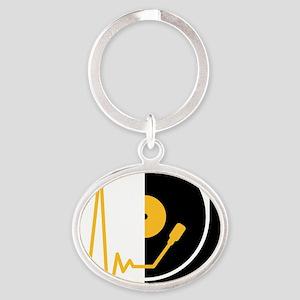 music_pulse_dj Oval Keychain