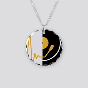 music_pulse_dj Necklace Circle Charm