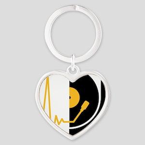 music_pulse_dj Heart Keychain