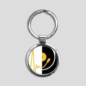 music_pulse_dj Round Keychain