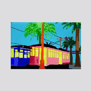 Cable CAR cOLOR tHROW Rectangle Magnet