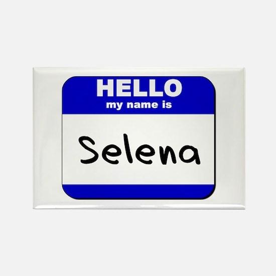 hello my name is selena Rectangle Magnet