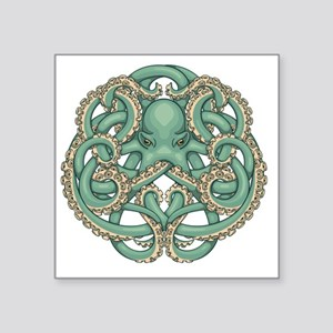 "Octopus Emblem Square Sticker 3"" x 3"""