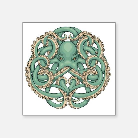"Octopus Emblem Square Sticker 3"" x 3"""