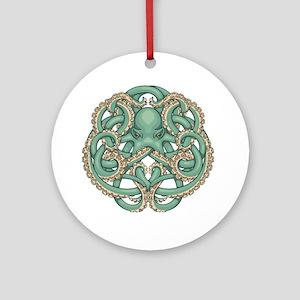 Octopus Emblem Round Ornament