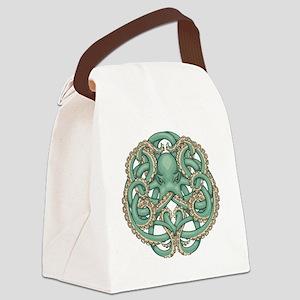 Octopus Emblem Canvas Lunch Bag