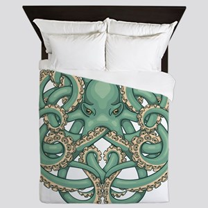 Octopus Emblem Queen Duvet