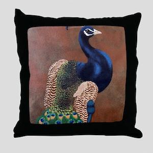 StephanieAM Peacock Throw Pillow