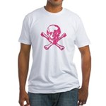 Vintage Pink Skull Fitted T-Shirt