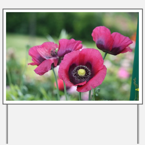 Monets Poppies Yard Sign