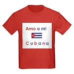 Amo a mi Cubana. Kids Dark T-Shirt