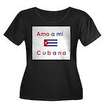 Amo a mi Cubana. Women's Plus Size Scoop Neck Dark
