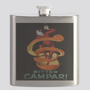 Viintage Cappiello Campari Shower Curtain Flask