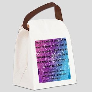 Chiari Syringo Awareness Canvas Lunch Bag
