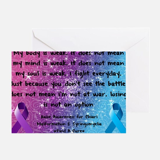 Chiari Syringo Awareness Greeting Card