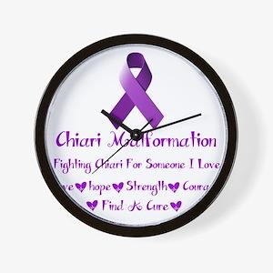 Chiari Malformation Awareness Wall Clock