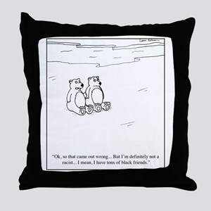 Polar Bear Racism Throw Pillow
