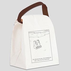 Polar Bear Racism Canvas Lunch Bag