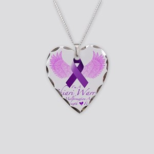 Chiari Warrior Necklace Heart Charm