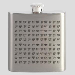 Vintage Teacups Flask