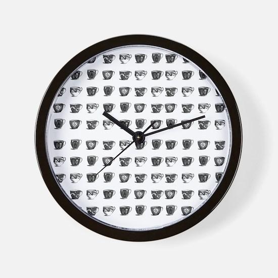 Vintage Teacups Wall Clock