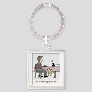 Dog Donation Square Keychain