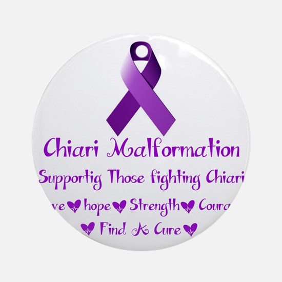 Supporting Those Fighting Chiari Round Ornament