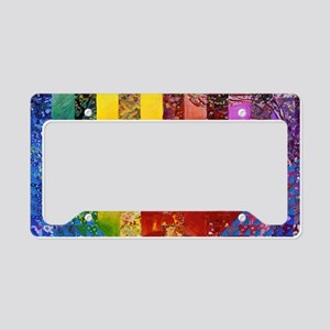 Conundrum I – Rainbow Woman License Plate Holder