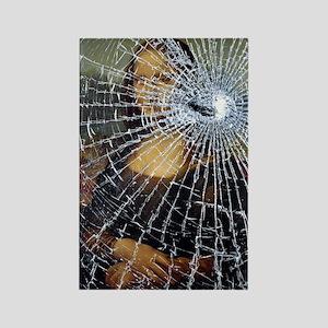 Mona Lisa Shattered Rectangle Magnet