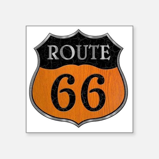 "rt66-woodsteel-T Square Sticker 3"" x 3"""