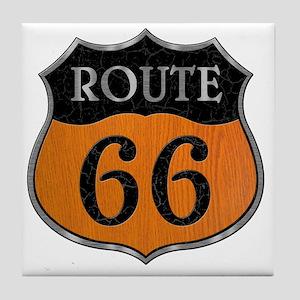rt66-woodsteel-T Tile Coaster